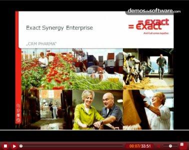 Introducción a la herramienta CRM Pharma de Exact. Screencast de 33 min.
