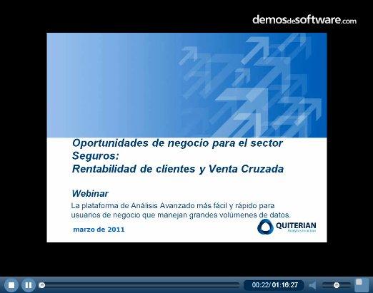 Márketing analítico para el sector seguros, con Quiterian. Webinar de 1 hora.