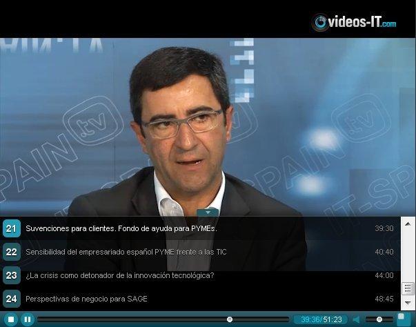 Video-entrevista al Director General Soluciones de Gestión Empresarial de SAGE España