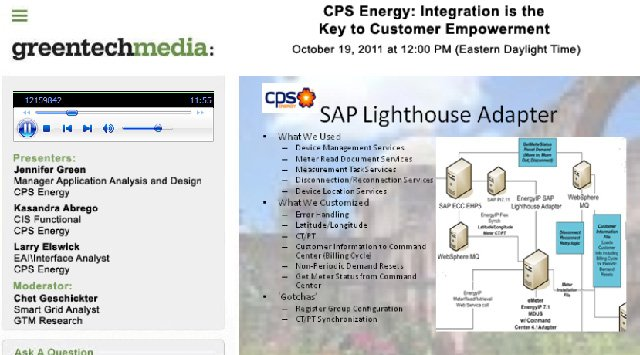 CPS Energy: Cómo montar una Smart Grid con SAP. Webinar en inglés.