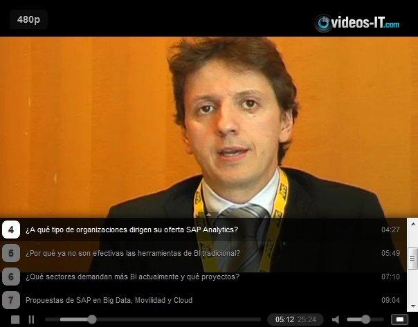 Video entrevista a Adolfo Pellicer, Responsable de Hana y SAP Analytics  en SAP Iberia