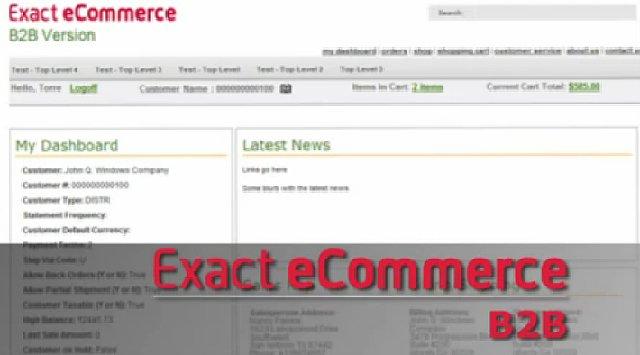 Exact B2B ecommerce portal. Video presentación en inglés.
