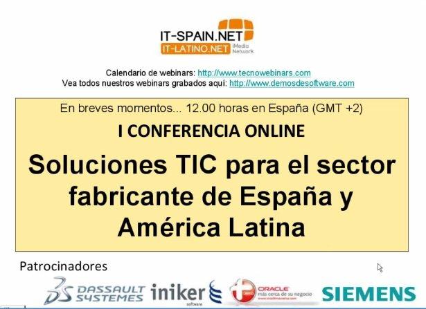 ESPECIAL: I Conferencia Online Soluciones Verticales para el Sector Industrial. 15 horas de webinars.