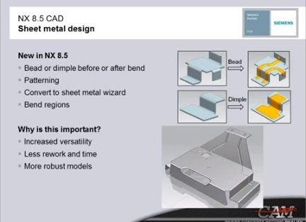 Novedades de NX 8.5, por Siemens PLM. Vídeo en inglés de 30 min.