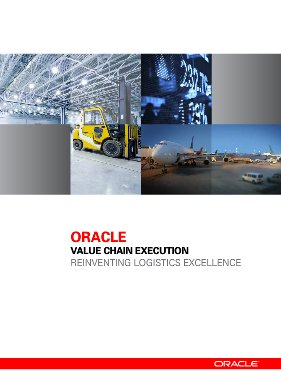 Introducción a la suite de gestión de cadena de suministro Value Chain Execution de Oracle