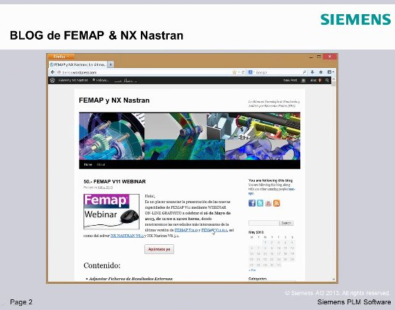 Nuevas capacidades de FEMAP V11, por Pixel Sistemas. Webinar de 1 hora.