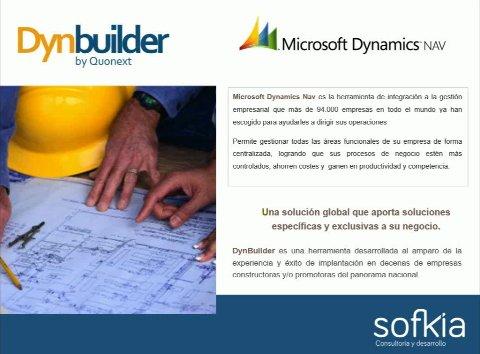 Dynbuilder, el vertical de Microsoft NAV para el sector de la construcción. Webinar de 1 hora y media.