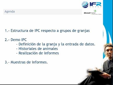 IFR-Pig Control, solución desarrollada en Microsoft.NET para la gestión de granjas, del vertical Microsoft Dynamics AX 2012 IFR Meat. Webinar de 1 hora y media.