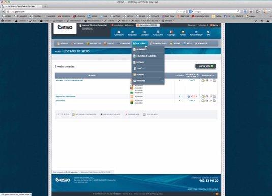 TPV virtual, contabilidad y gestión de almacén para tiendas y bares, por Gesio.com. Webinar de 1 hora 15 minutos.
