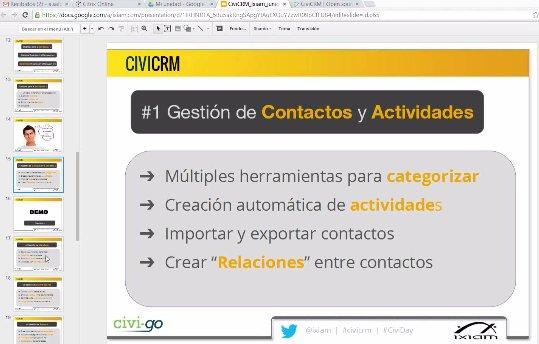 Intro y demo a CiviCRM, CRM SaaS para el 3er Sector. Webinar de 1 hora.