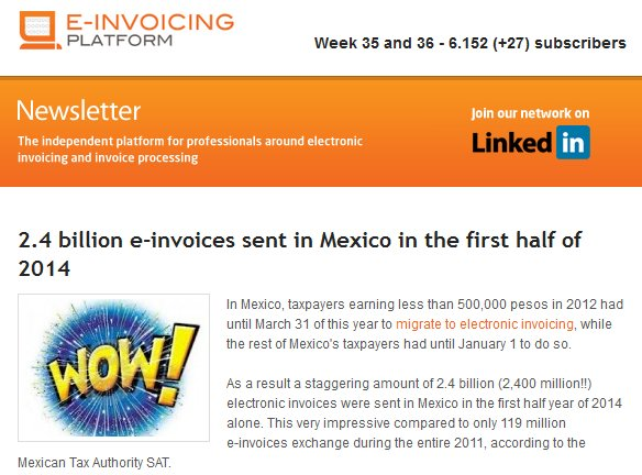 Newsletter Quincenal de e-invoicing.com
