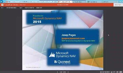 Microsoft Dynamics NAV 2015. Por Josep Pagés, único MVP de Dynamics NAV en España y Latam. Webinar de 1 hora.