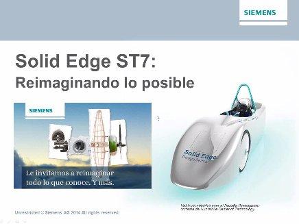 Demo de Solid Edge ST7: todas las novedades. Webinar de 1 hora y media.