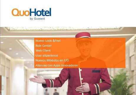 QuoHotel, solución de gestión ERP y PMS para hoteles y cadenas hoteleras. Webinar de 1 hora y media.