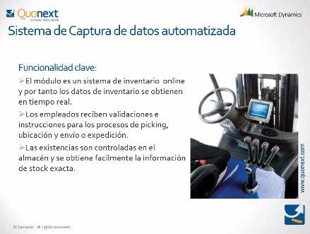 Gestión Avanzada de Almacenes con Microsoft Dynamics NAV. Webinar de 1 hora.