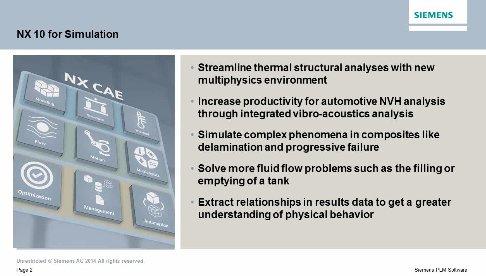 Nuevo Siemens NX10 CAE: Descubra las novedades en simulación. Webinar de 1 hora.