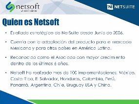 ¿Netsuite o SAP? Algunas cuestiones a tener en cuenta. Webinar de 50 minutos.