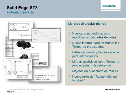 Novedades en Siemens Solid Edge ST8 [Webinar de 75 mnts.]