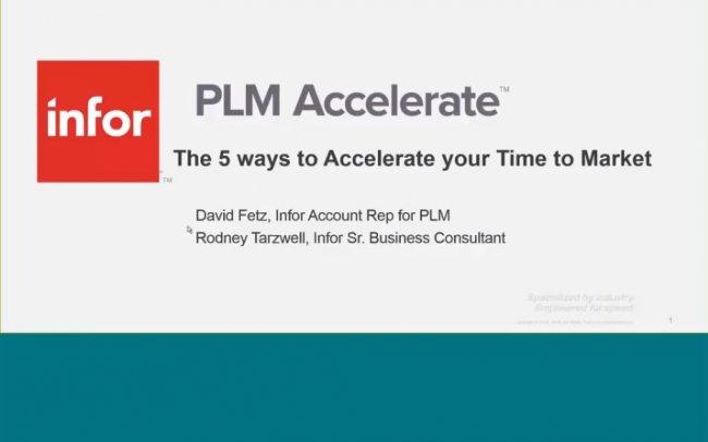 Infor PLM Accelerate, PLM para Fabricación Discreta [Webinar de 29 mnts.]