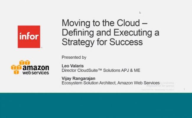 ¿Por qué debería valorar un ERP en el Cloud? Por Amazon WS e Infor [Webinar de 64 mnts.]
