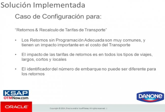 Order to Cash en Aguas Danone Argentina con Oracle OTM y Financials. Caso Práctico. [Webinar de 1 hora]