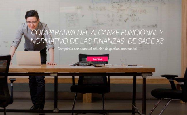 Alcance funcional y normativo de las Finanzas de Sage X3 [PDF de 6 pgs. en español]