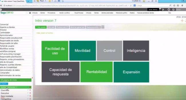 Sage ERP X3 Versión 7. Intro y demo. [Webinar de 37 mnts.]