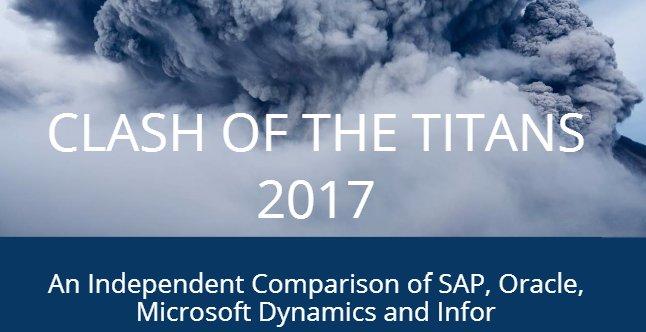 Comparativa: SAP, Oracle, Microsoft Dynamics, Infor