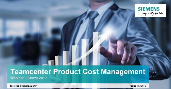 Gestión de costes y beneficios de productos industriales con Teamcenter Product Cost Management [Webinar de 70 mnts.]