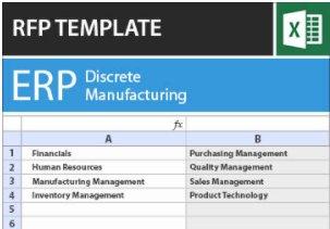 Plantilla RFP de ERP para manufactura discreta