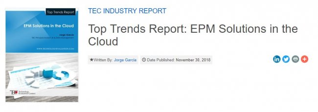 EPM Cloud (Enterprise Performance Management) [Informe especial y Guía de Software en inglés]