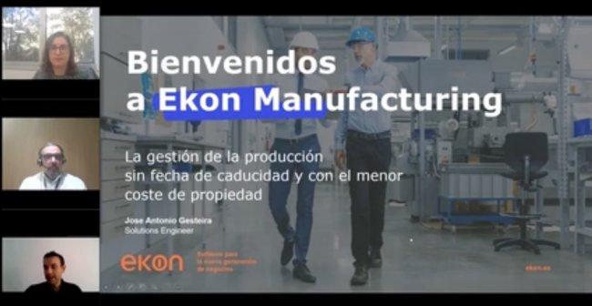 Gestión de la producción y planificación finita con Ekon Manufacturing
