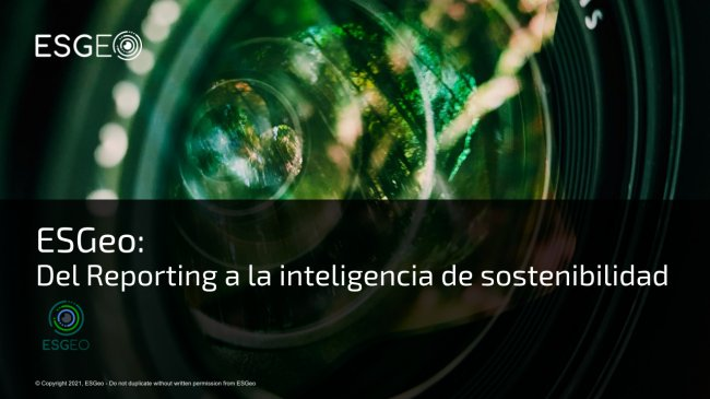 Techedge desarrolla ESGeo, plataforma para la gestión de la inteligencia y la sostenibilidad